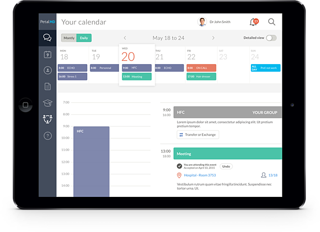 Hospital-wide on-call schedule solution