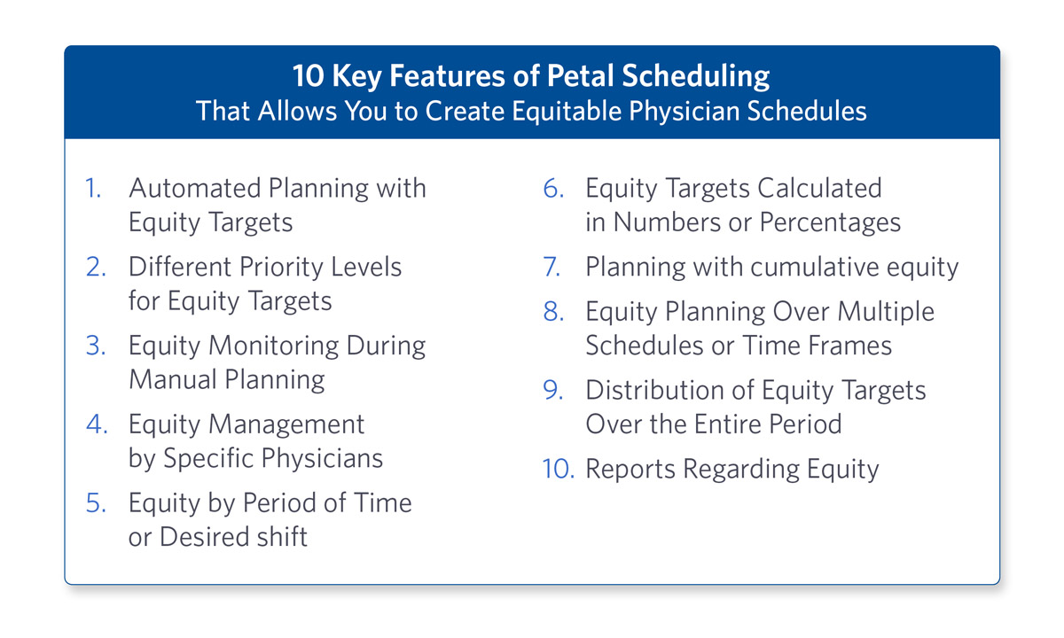 10 Key Features Physician Schedules
